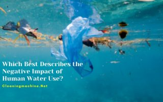 Which Best Describes the Negative Impact of Human Water Use
