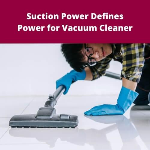Bacpack Vacuum Suction Power